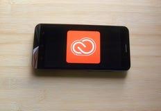 App de Adobe Creative Cloud foto de archivo