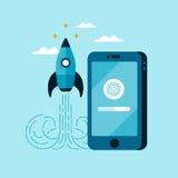 App de banner van het ontwikkelingsconcept Royalty-vrije Stock Afbeelding