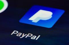 App de Paypal fotografía de archivo libre de regalías