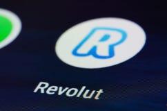 App de Revolut fotografia de stock