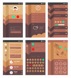 Template for mobile app design Stock Image