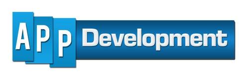 App Development Blue Stripes Bar Horizontal royalty free illustration