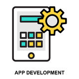 App Development. Color Line Vector Icon Royalty Free Stock Image