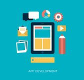 App development concept illustration Royalty Free Stock Photos