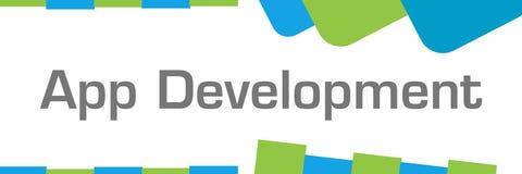 App Development Green Blue Shapes Horizontal stock illustration