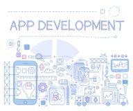 App Development Infographics. Vector Illustration Stock Images