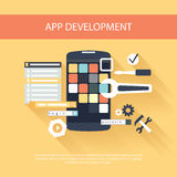 App development instruments concept Stock Image