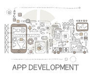 App Development Process Elements Creative Sketch Infographic Stock Photography
