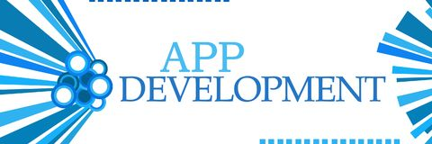 App Development Blue Graphics Horizontal stock illustration