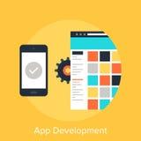 App Development. Vector illustration of app development flat design concept royalty free illustration