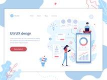 App development web banner stock illustration