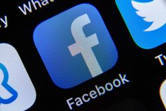 App di Facebook su IPhone immagine stock