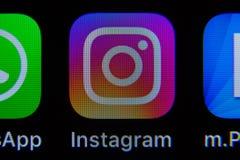 App di Instagram su IPhone fotografia stock libera da diritti