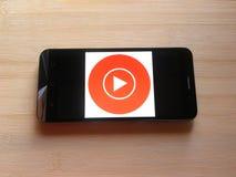 App di musica di YouTube immagine stock