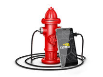 App dla telefonu, hydraulicznych systemów dostawy woda, 3d ilustrator Obrazy Stock