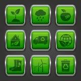 App Eco εικονίδια Στοκ φωτογραφία με δικαίωμα ελεύθερης χρήσης