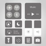 App ekranu sensorowego Mądrze telefonu guzika ikony symbolu wektoru Mobilna Podaniowa ilustracja royalty ilustracja