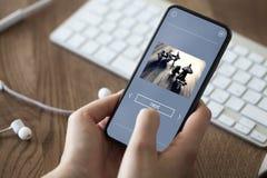 App en el teléfono Imagenes de archivo