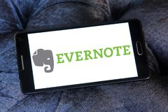 App Evernote λογότυπο Στοκ εικόνα με δικαίωμα ελεύθερης χρήσης