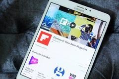 App Flipboard λογότυπο Στοκ Φωτογραφία