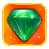 App game icon emerald Royalty Free Stock Photo