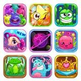 App geplaatste pictogrammen Royalty-vrije Stock Afbeeldingen