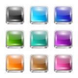 App guziki ustawiający Obraz Stock