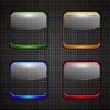 App guziki ustawiający Fotografia Stock