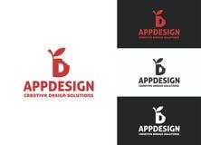 App het Embleem van de Ontwerpbrief D Stock Afbeeldingen