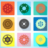 App icon cogwheel vector illustration Stock Photo