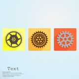 App icon cogwheel vector illustration Stock Image