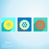 App icon cogwheel vector illustration Stock Photos