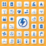 App icon energy sign Icons set. vector illustration. App icon energy sign Icons set. vector illustration Royalty Free Stock Photos