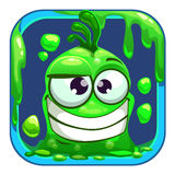 App icon with funny green slimy monster. Royalty Free Stock Photography