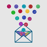 App icon letter Royalty Free Stock Photography