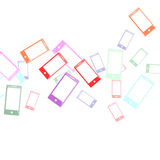 App icon Phone background vector illustration Stock Photos