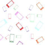 App icon Phone background vector illustration Royalty Free Stock Photos