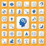 App icon science and education Icons set. vector illustration. Royalty Free Stock Images