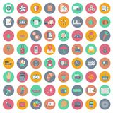 App icon set. Icons for websites and mobile applications. Flat. App icon set. Icons for websites and mobile applications. Business, management, finances Stock Images