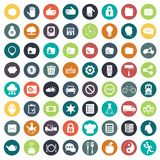 App icon set. Icons for websites and mobile applications. Flat. App icon set. Icons for websites and mobile applications. Business, management, finances Royalty Free Stock Photography