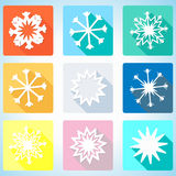 App icon snowflake vector illustration Royalty Free Stock Photography