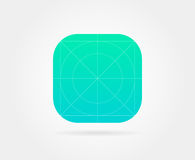 App Icon Template with Guidelines. Vector Fresh Colour Royalty Free Stock Photo