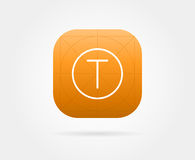 App Icon Template with Guidelines. Vector Fresh Colour Stock Photography