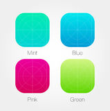 App Icon Template Set with Guidelines. Vector Fresh Colour. EPS 10 stock illustration