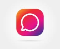 App Icon Template. Vector Gradient Fresh Color Stock Photos