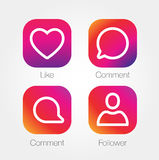 App Icon Template. Vector Gradient Fresh Color Set Stock Image