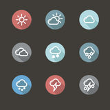 App icon weather Royalty Free Stock Image