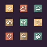 App icon weather Stock Photos