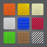 App icons background set. Glossy web button icons. Royalty Free Stock Photos