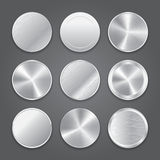 App icons background set. Metal button icons. Royalty Free Stock Photo